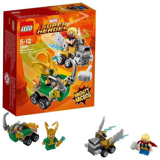 LEGO Super Heroes 76091, Mighty Micros: Thor vs. Loki