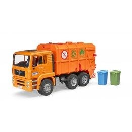 Bruder, MAN TGA Garbage truck orange