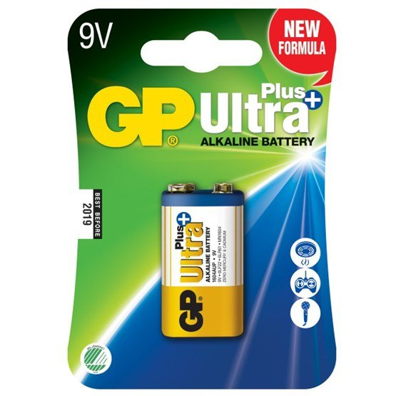 GP, Batteri 9V Ultra Plus - 1 st