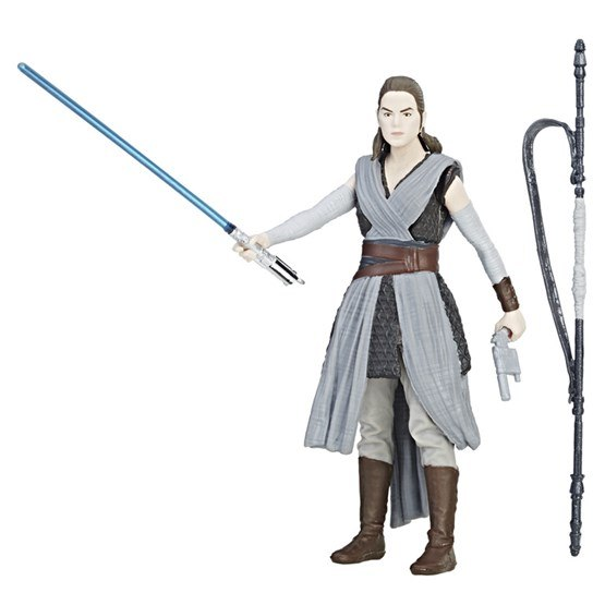 Star Wars, E8 Force Link - Rey Jedi Training 10 cm