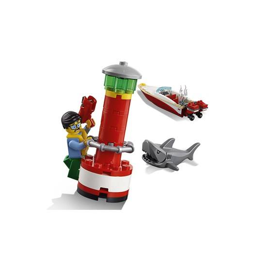 Lego city coast guard 60167 kustbevakningens h gkvarter for Mobilia 3 butik