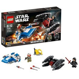 LEGO Star Wars 75196, A-Wing vs. TIE Silencer Microfighters