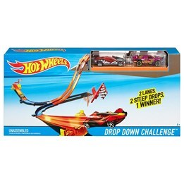 Hot Wheels, 3-in-1 Drop Down Challenge Track Set