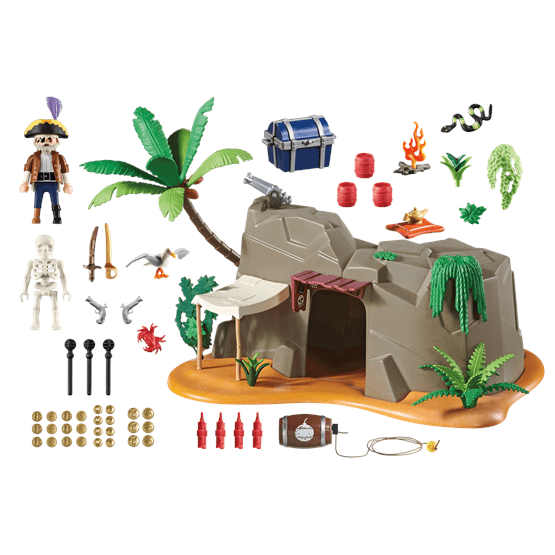 Playmobil super 4 4797 piratgrotta figurer robotar for Mobilia 3 butik