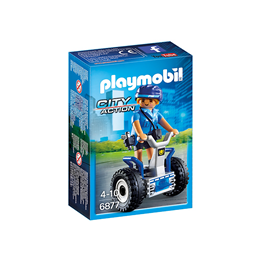 Playmobil City Action 6877, Poliskvinna med balansracerbil