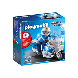 Playmobil City Action 6923, Poliscykel med LED-ljus