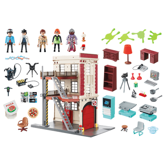 Playmobil ghostbusters 9219 ghostbusters brandstation for Mobilia 3 butik