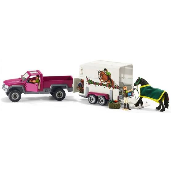 Schleich, Pick-up-bil med hästtransport