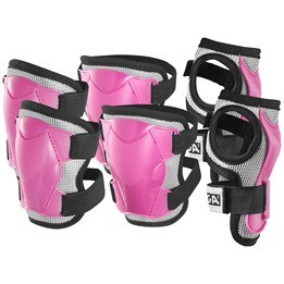 STIGA, Protection set Comfort 3-p pink jr m