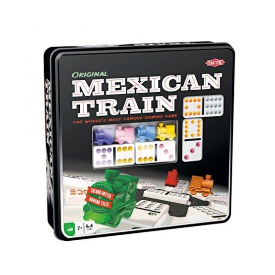 Mexican Train i plåtask